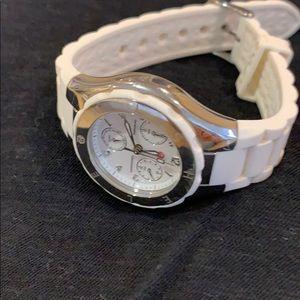 Michele Jelly Watch - Tahitian, White